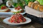 Bruschetta with Tomato Salsa and Mozarella